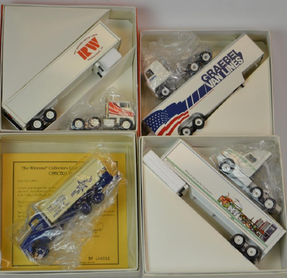 4 Winross Trucks