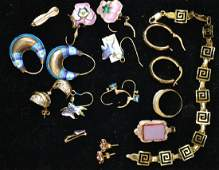 Gold and Sterling Jewelry Grouping