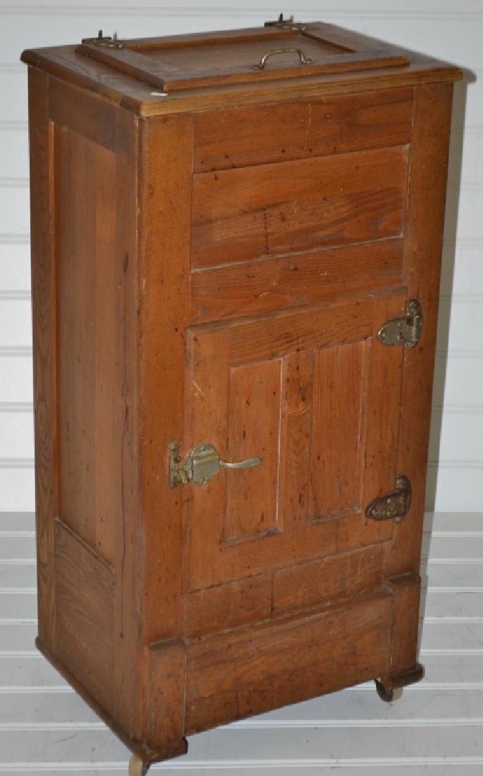 Rare Servant's Quarters Oak Ice Box