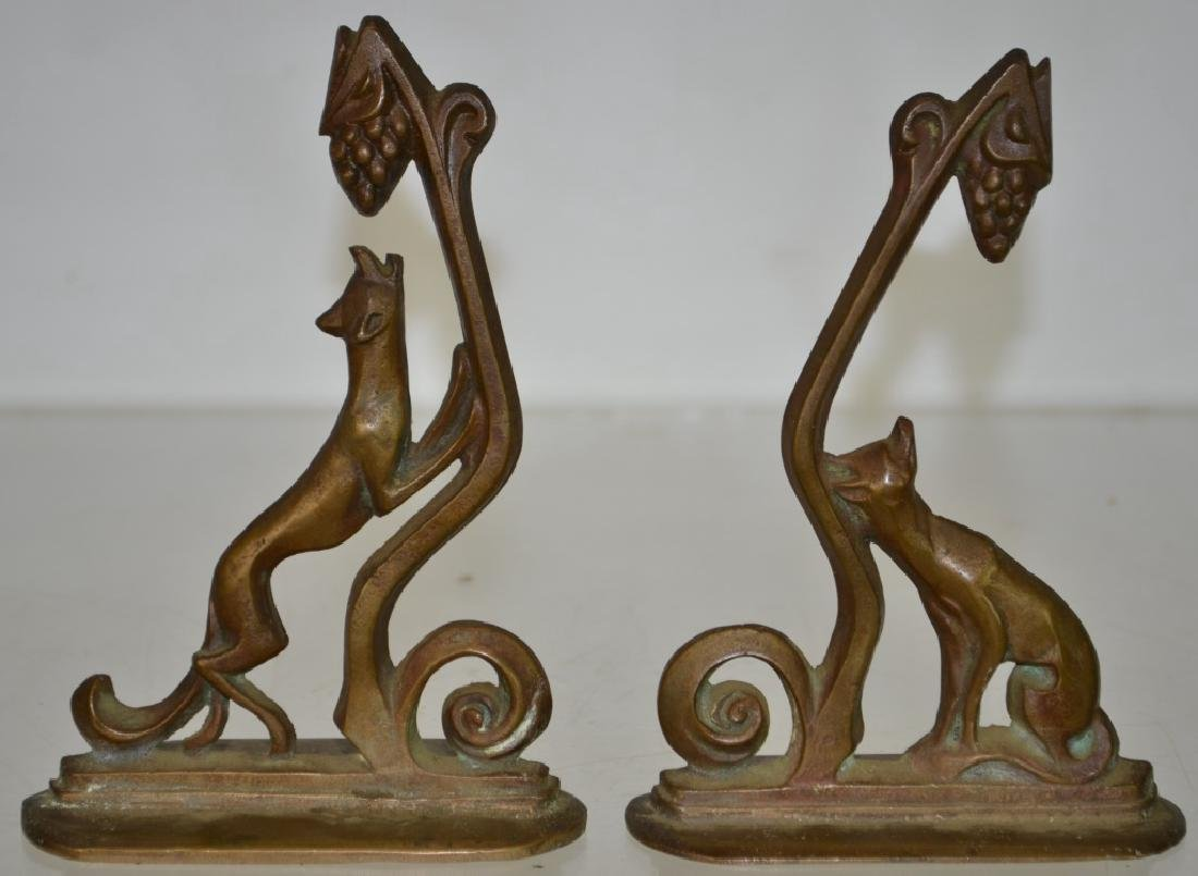 William Boogar The Fox with Grapes Bookends