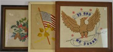 Patriotic Needlework Collection 3 items all nicely