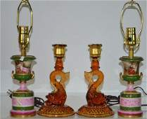 Mixed Decorative Grouping Including pair of dolphin