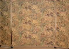 Vintage Room Divider 2 sided cloth 3 panel room