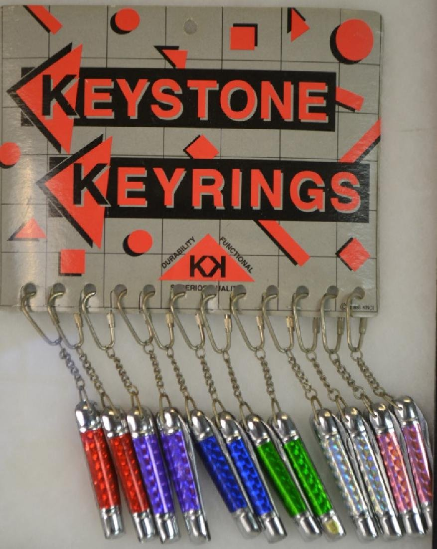 Keystone Key Ring Display Item is complete with 12