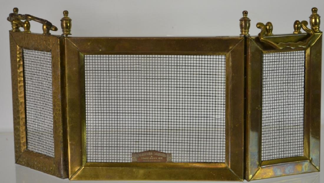 Salesman Sample Fire Screen Solid brass with various