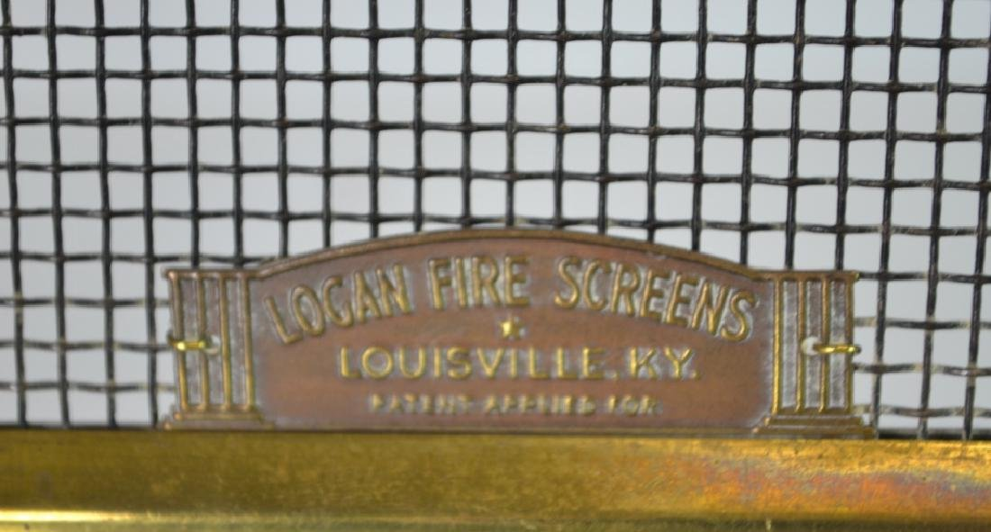 Salesman Sample Fire Screen Solid brass with various - 2