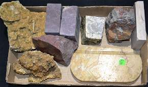 Cut Mineral Paper Weight Grouping Including various cut