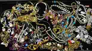 Costume Jewelry Grouping Large collection of bracelets