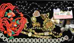 Ladies Watch and Costume Jewelry Grouping Including an