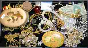 Costume Jewelry Grouping Including a large selection of