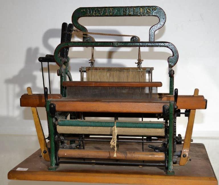 (David Silks) Salesman 's Sample Textile Loom Item is