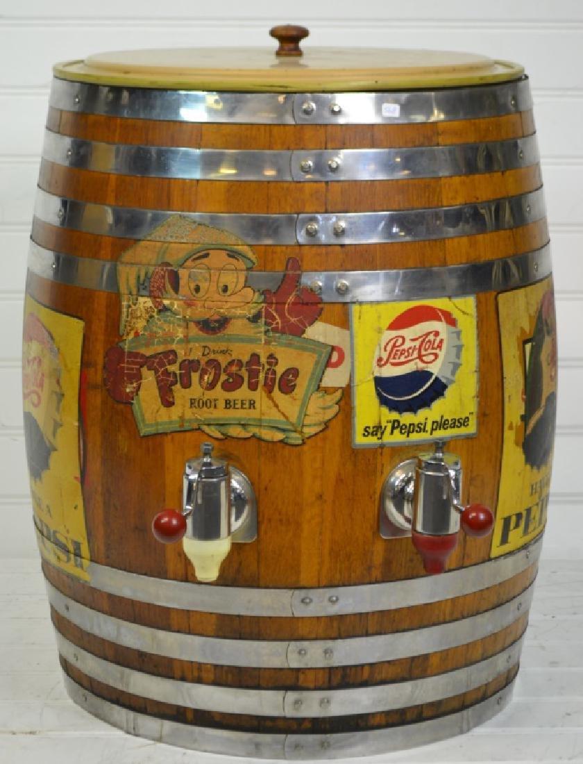 Massive Oak Soda Fountain Soda Dispenser Oak with