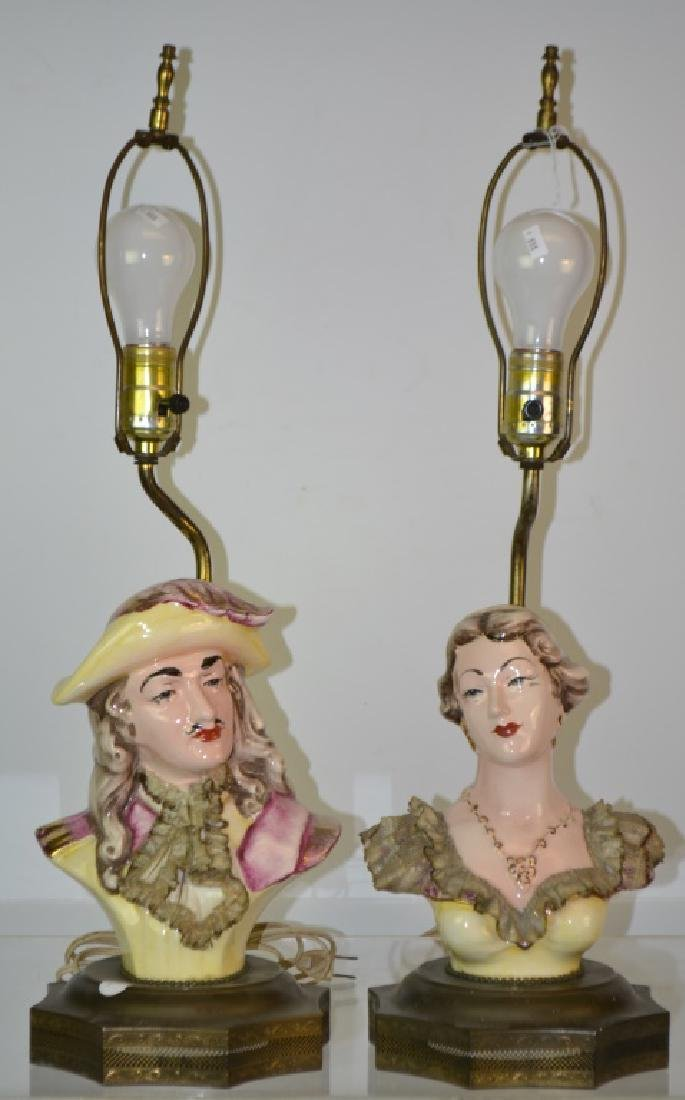 Pair of 1940's Figural Lamps
