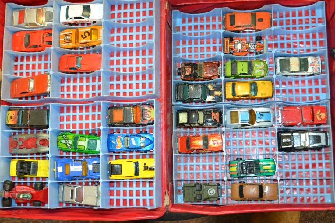 Hot Wheels and Matchbox Cars in Case