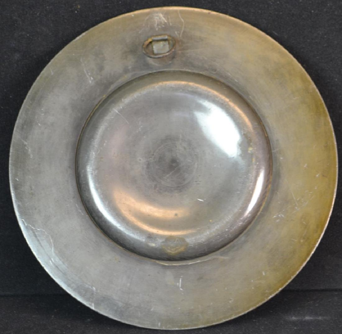 19th Century Pewter Relief Decorated Plate. - 2