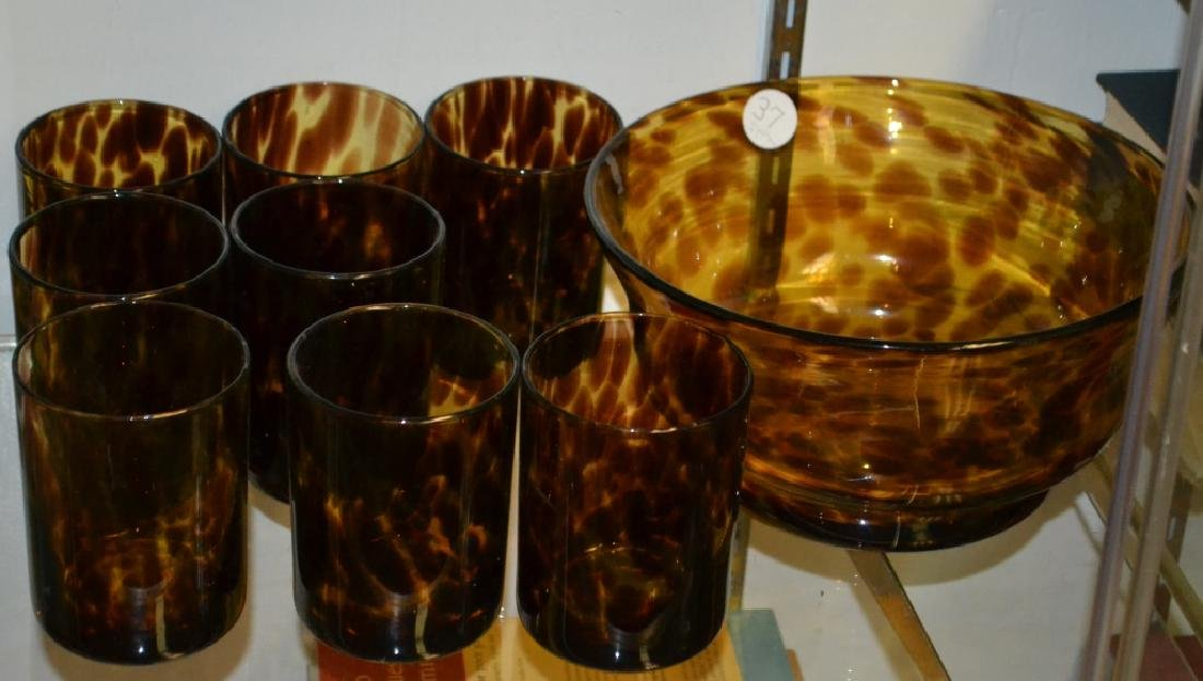 Grouping of Leopard Glass - 2