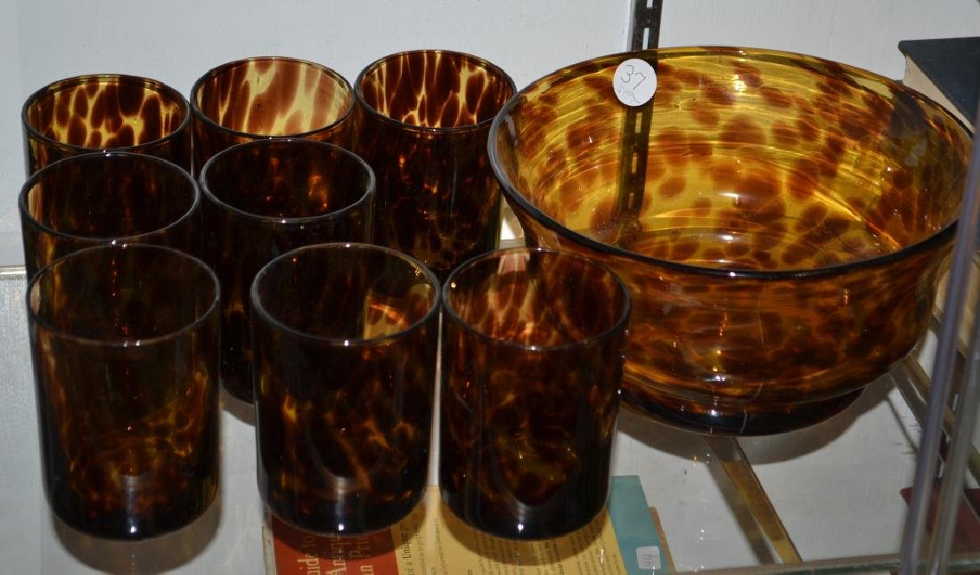 Grouping of Leopard Glass - 3