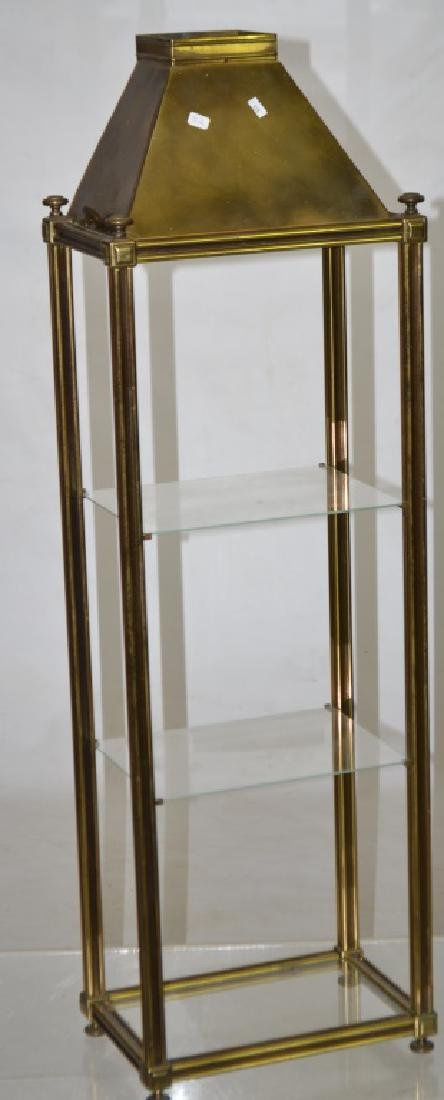 Standing Solid Brass Display Unit