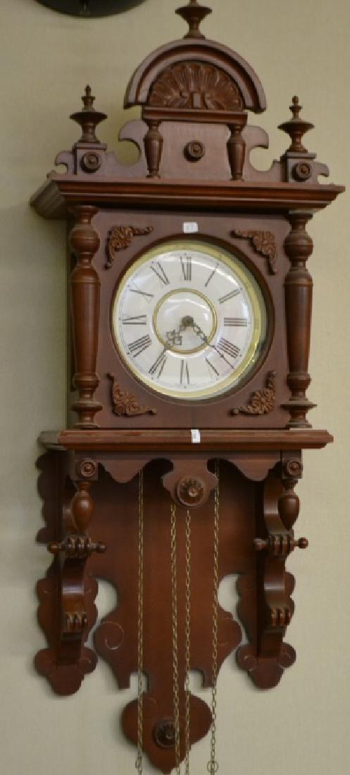Ornate German Movement Wall Clock