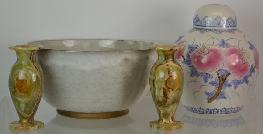 Mixed Ceramic and Alabaster Grouping