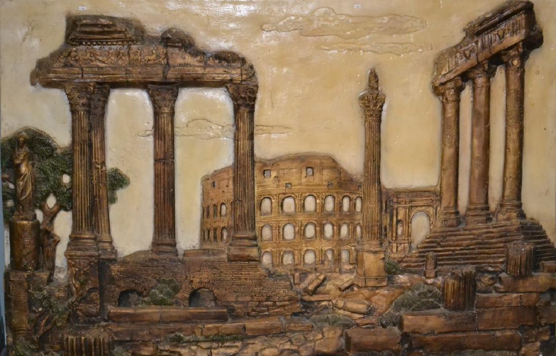 Massive Plaster Roman Scene