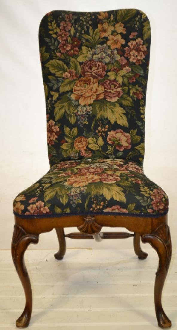 An Upholstered Chair with Shell Carving - 2
