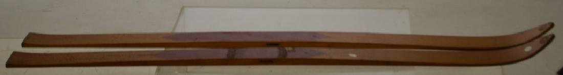 Pair of Wooden LUND Skis