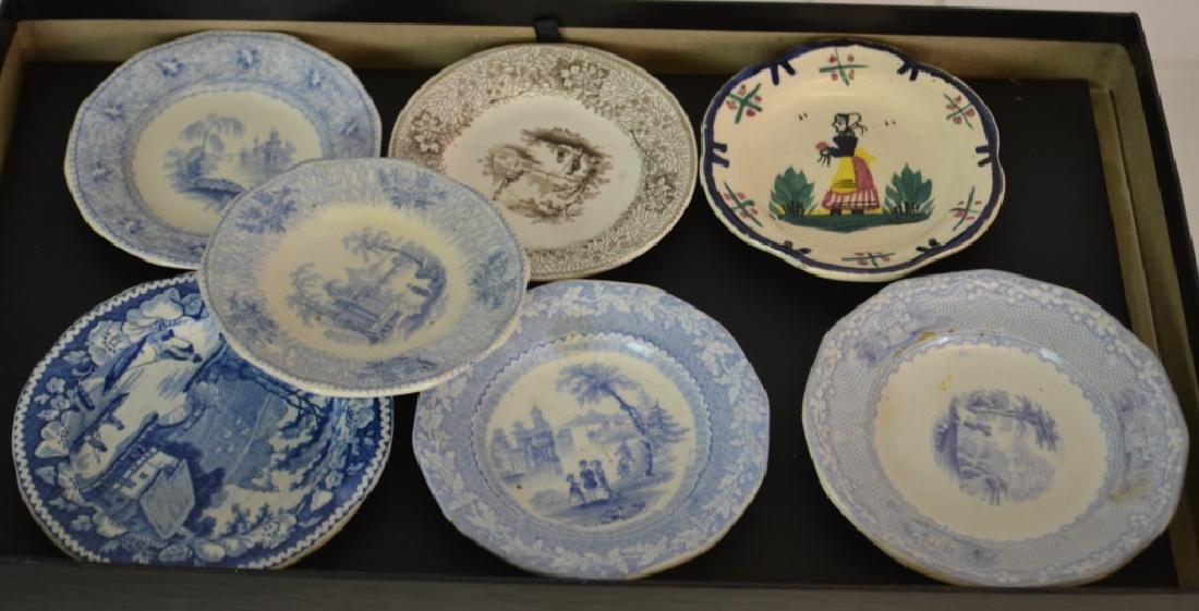 Transfer Ware Cup Plate Grouping