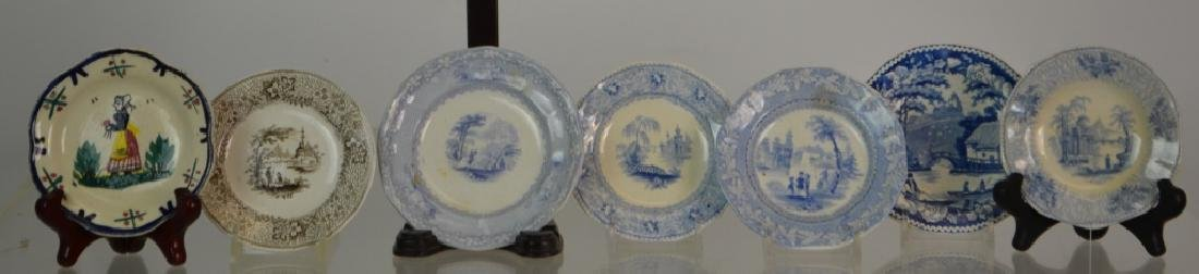 Transfer Ware Cup Plate Grouping - 2