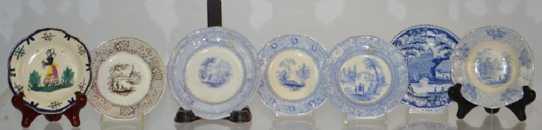 Transfer Ware Cup Plate Grouping - 3