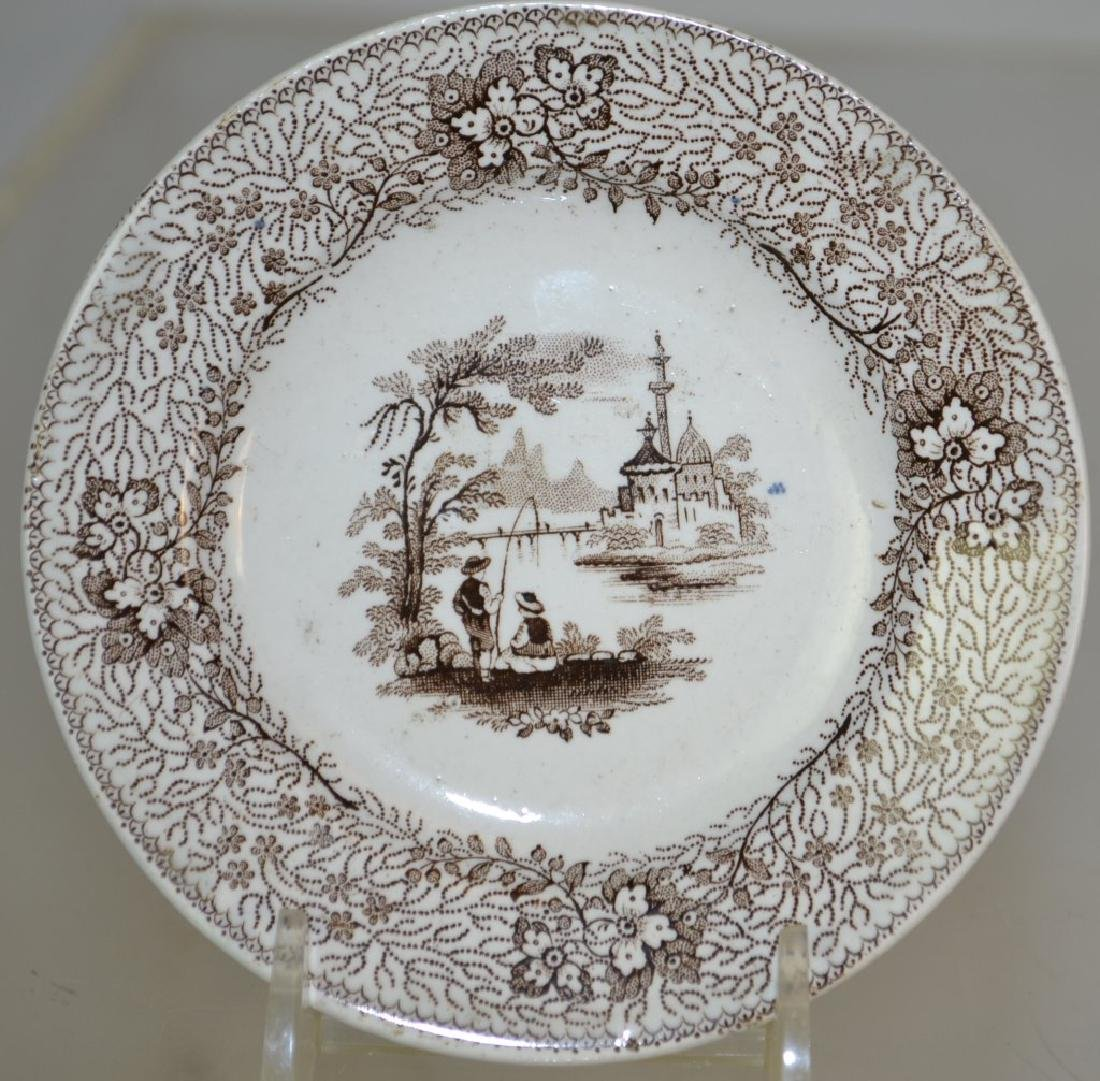 Transfer Ware Cup Plate Grouping - 5
