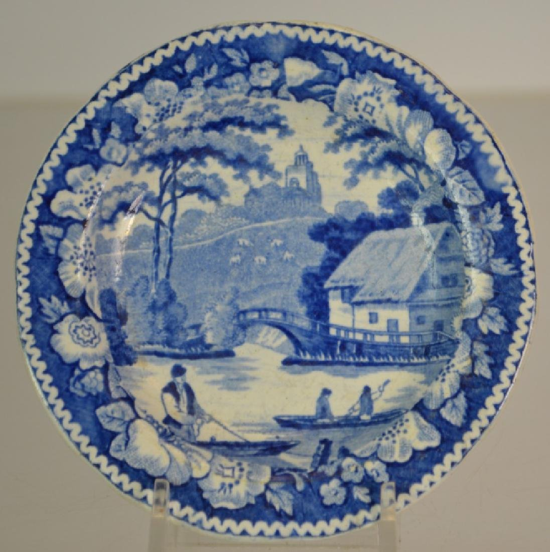Transfer Ware Cup Plate Grouping - 6