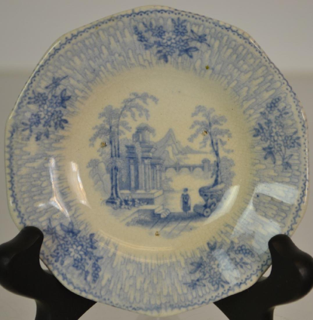 Transfer Ware Cup Plate Grouping - 7