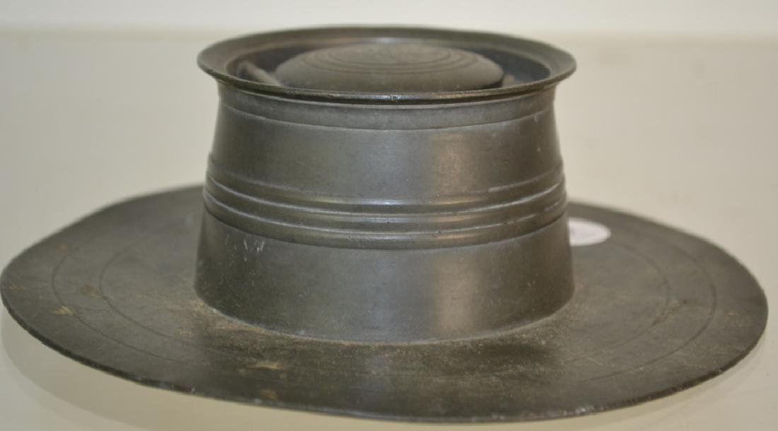 19th Century American Pewter Inkwell - 3