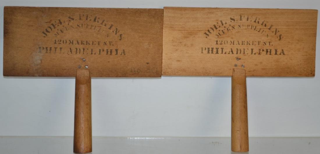 Pair of Joel S. Perkins Horse/Flax Brushes