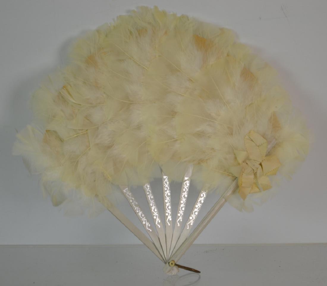 Vintage Feather Fan - 2