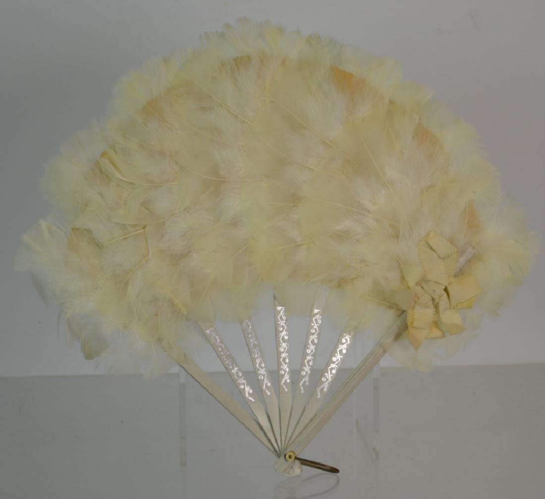 Vintage Feather Fan - 3