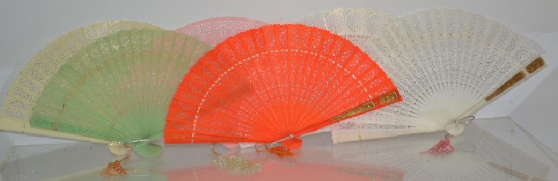 6 Vintage Celluloid/Plastic Fans