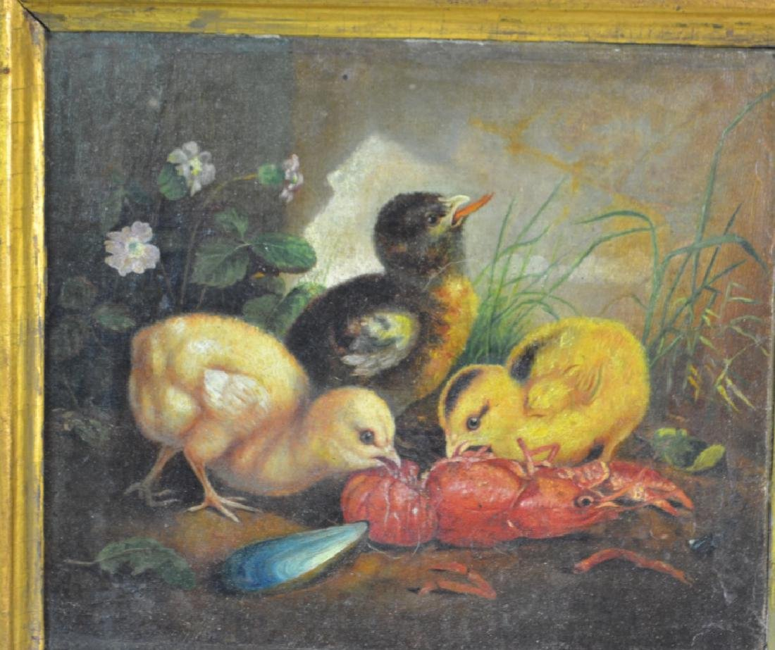 19th Century Oil Painting on Canvas - 2
