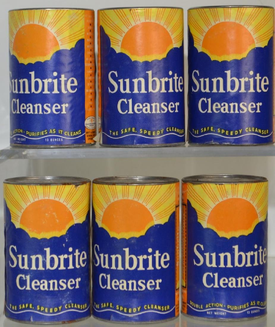 Grouping of 6 Sunbrite Cleanser Cans
