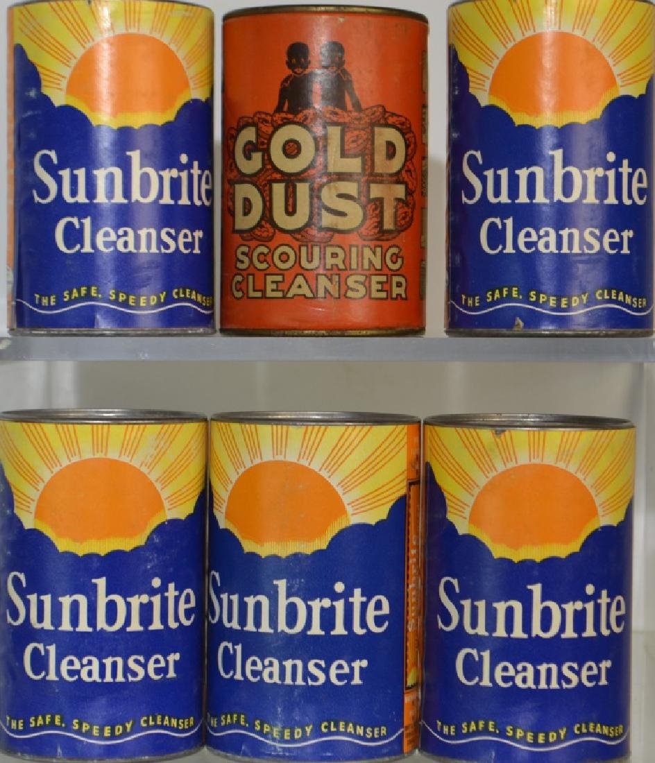 Gold Dust and Sunbrite Cleanser Cans