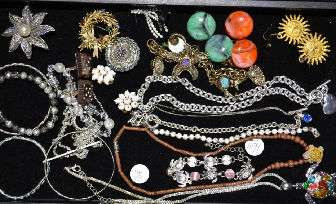 Costume Brooch and Necklace Grouping
