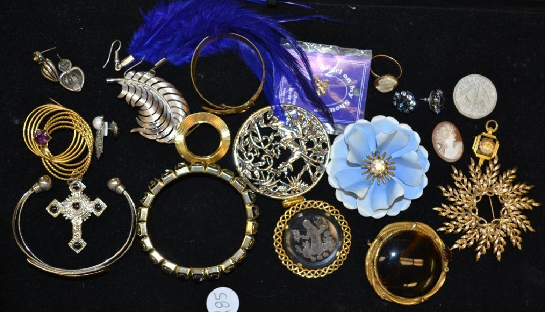 Large Pendant and Brooch Grouping