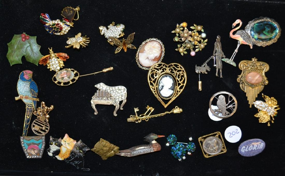 Cameos, Figural Pins and Others