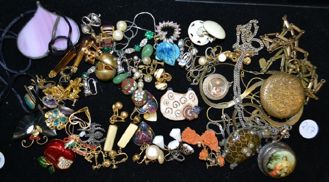 Swiss Pocket Watch and Costume Jewelry