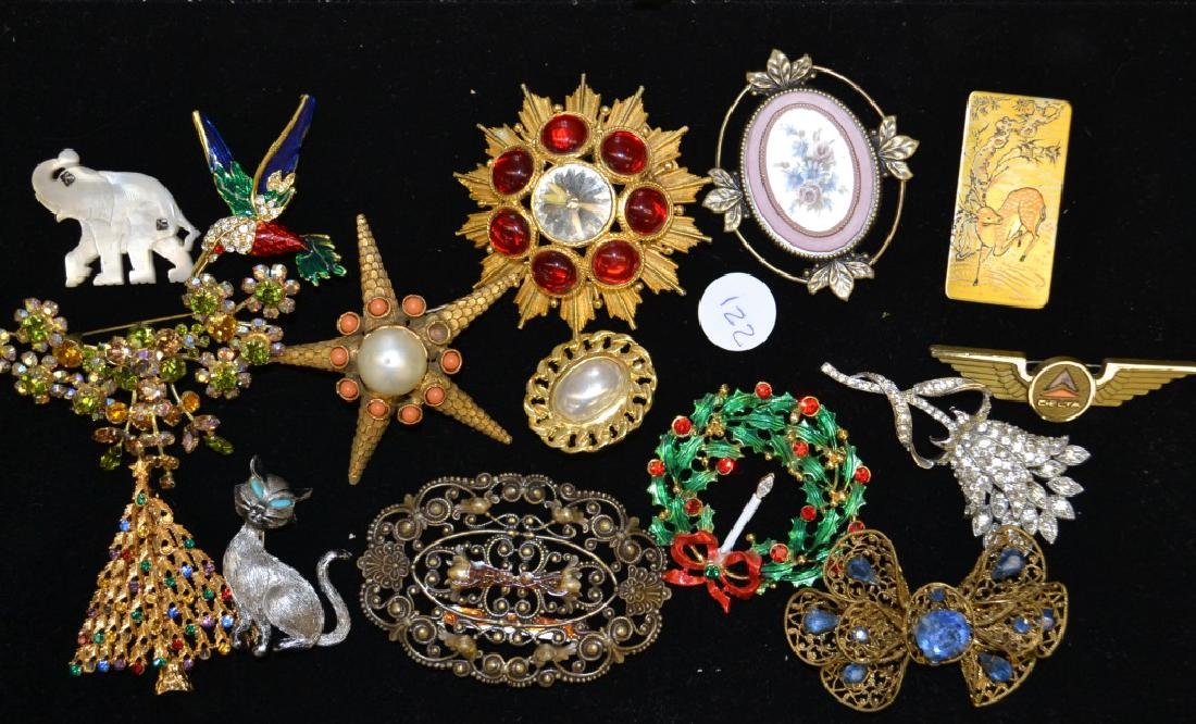 Large Brooch Grouping