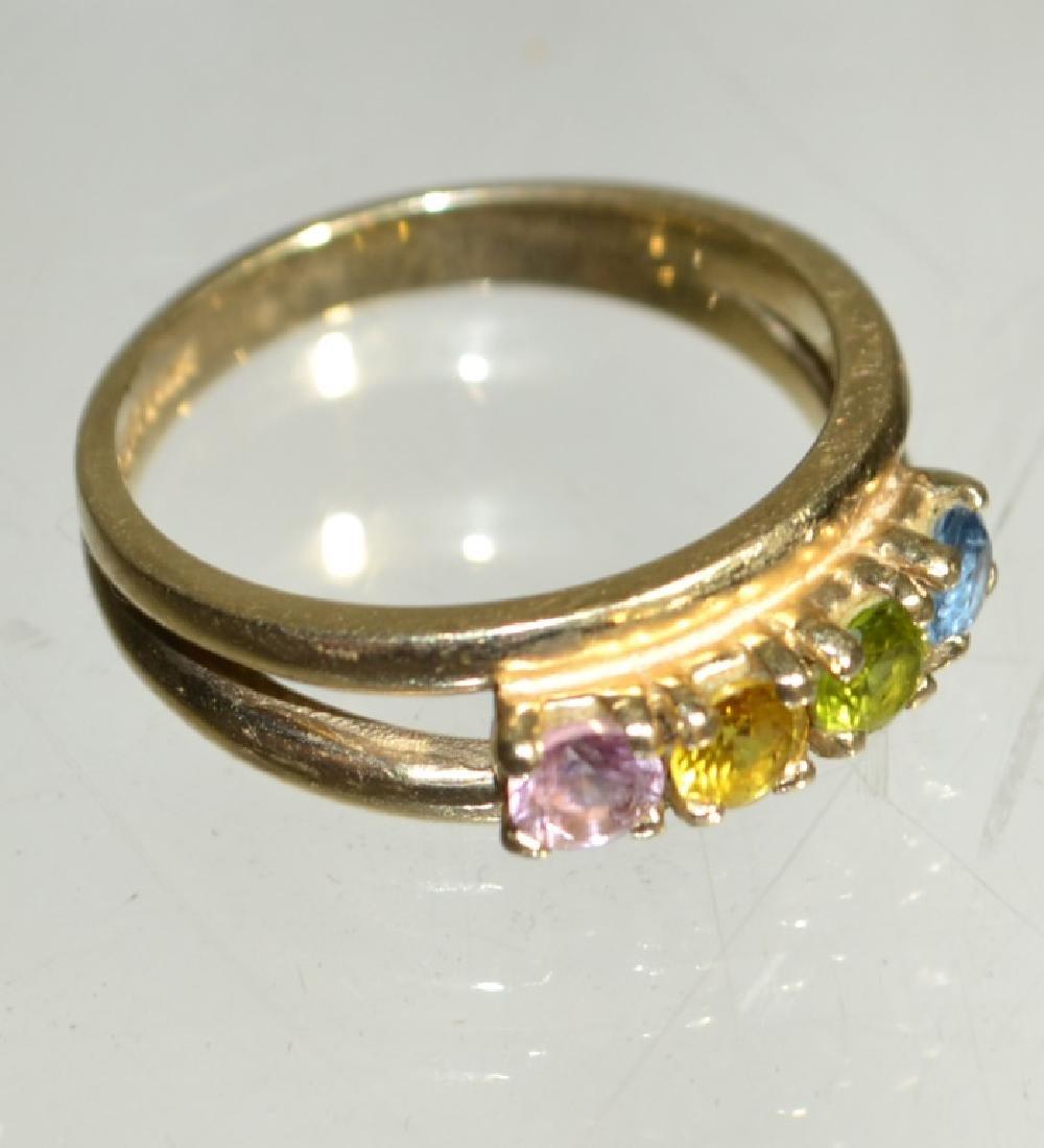 14K Gold Ladies Birthstone Ring