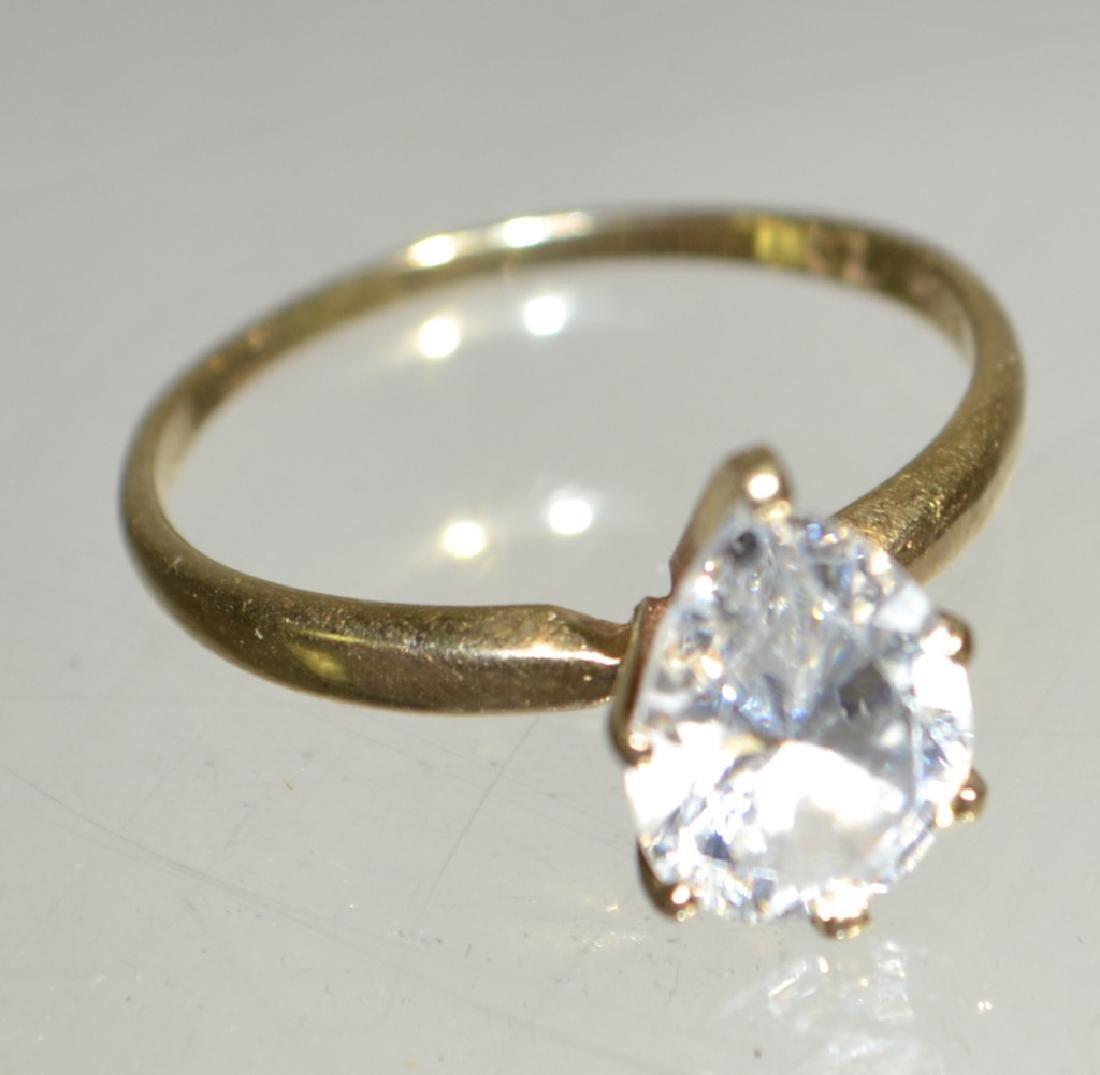 14K ladies Gold Ring with Tourmaline Stone