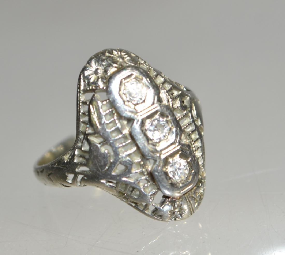 Ladies 18K White Gold and Diamond Ring