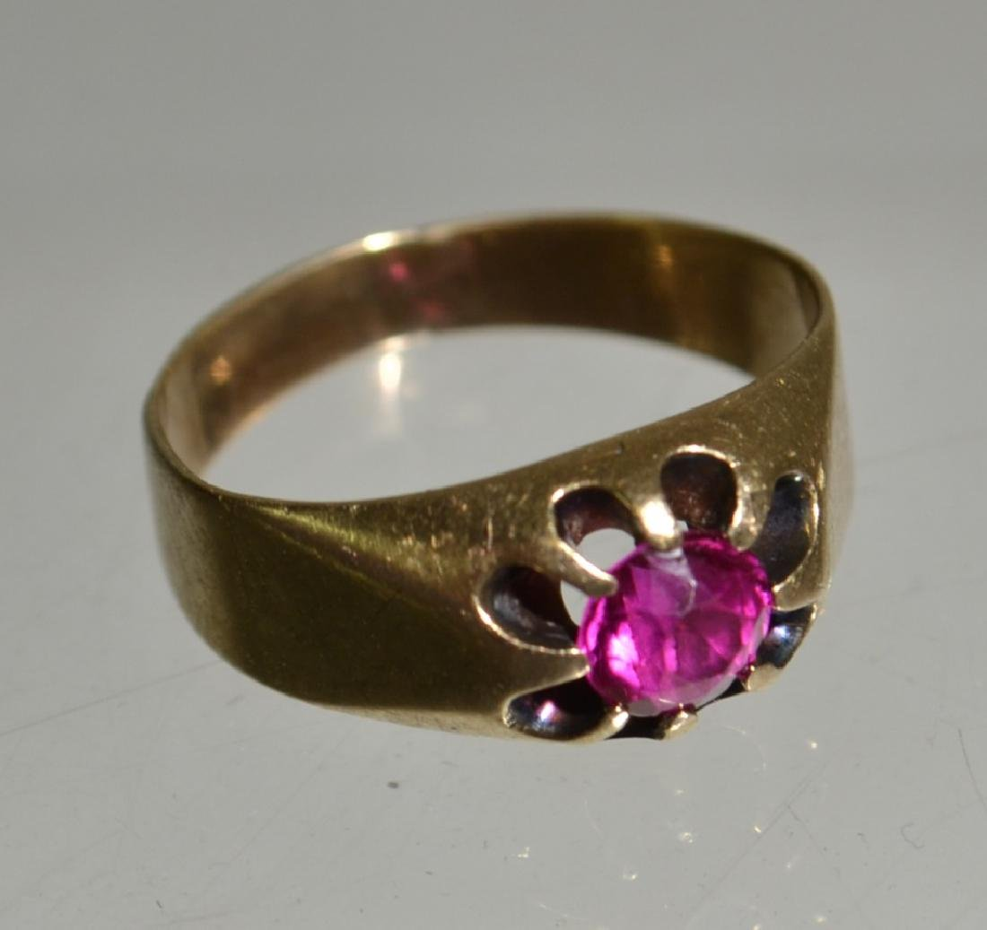 Ladies 14K Gold and Ruby Ring